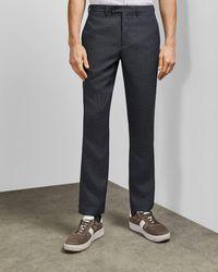 Ted Baker Pantalones Slim Fit Con Textura - Gris