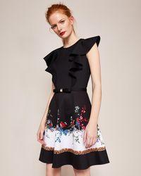 Ted Baker - Opulent Fauna Ruffled Dress - Lyst