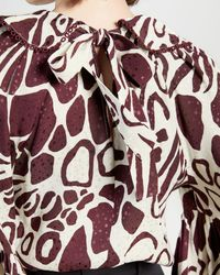 Ted Baker Giraffe Printed Shirt - Brown