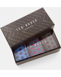 Ted Baker - 3 Pack Spotted Sock Set - Lyst