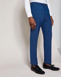 Ted Baker - Debonair Slim Plain Wool Suit Trousers - Lyst