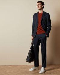 Ted Baker Semi Plain Pants - Blue