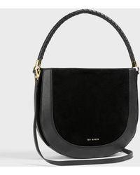 Ted Baker Plaited Handle Hobo Bag - Negro