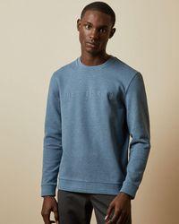 Ted Baker Branded Sweatshirt - Blue