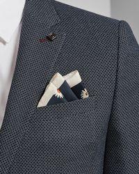 Ted Baker - Flower Print Silk Pocket Square - Lyst