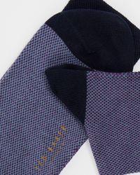 Ted Baker Strukturierte Baumwollsocken - Lila