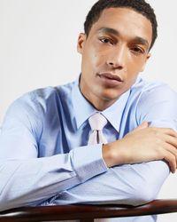 Ted Baker Camisa Textura Cuadros - Azul