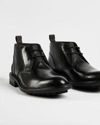 Ted Baker Leather Desert Boots - Black