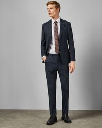 Ted Baker Sterling Two-piece Checked Suit - Blue