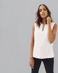 Ted Baker - Lace Back Top - Lyst