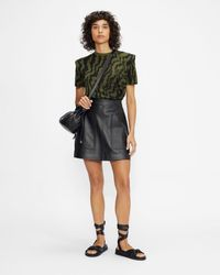 Ted Baker Printed Structured T-shirt - Verde