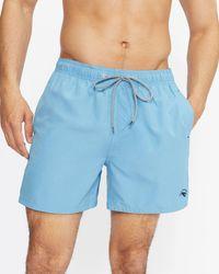 Ted Baker Einfarbige Badehose Mit Tasche Auf Der Rückseite - Blau