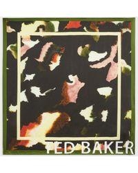 Ted Baker Pañuelo Cuadrado Seda Estampado - Negro