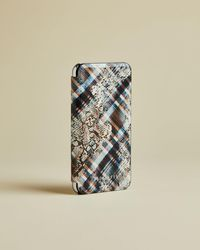 Ted Baker Quartz Print Iphone X Book Case - White