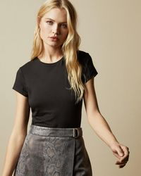 Ted Baker Fitted T-shirt - Black