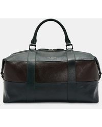 Ted Baker - Striped Leather Holdall - Lyst
