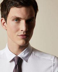 Ted Baker Cotton Geo Print Shirt - White