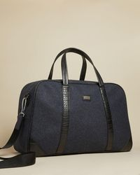 Ted Baker Wool Holdall - Blue