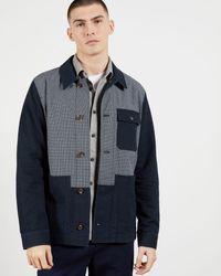 Ted Baker Chaqueta Workwear Paneles En Contraste - Azul
