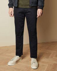 Ted Baker Tall Straight Leg Navy Jeans - Blue