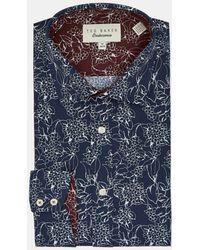 Ted Baker Floral Endurance Shirt - Blue