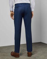 Ted Baker Debonair Slim Wool Suit Pants - Blue