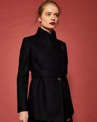 Ted Baker - Short Wrap Cashmere-blend Coat - Lyst