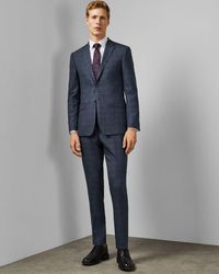 Ted Baker Endurance Checked Two-piece Suit - Blue