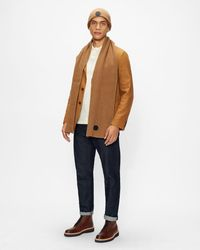 Ted Baker Cardigan Stitch Scarf - Brown