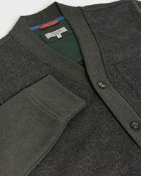 Ted Baker Jersey Pocket Detail Cardigan - Gray