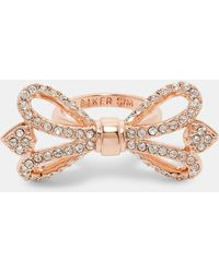 Ted Baker Crystal Bow Ring - Multicolour
