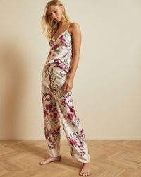 Ted Baker Fern Forest Pajama Bottoms - Natural