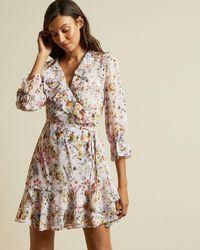 Ted Baker Jasmine Ruffle Wrap Dress - Multicolor