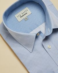 Ted Baker Geo Print Cotton Endurance Shirt - White