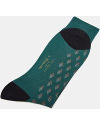 Ted Baker - Pantherella Diamond Print Cotton Socks - Lyst