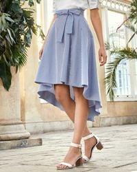 Ted Baker - Striped Drop Hem Cotton Skirt - Lyst