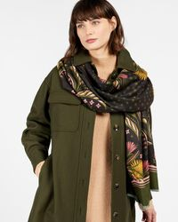 Ted Baker Deco Long Woven Scarf - Black