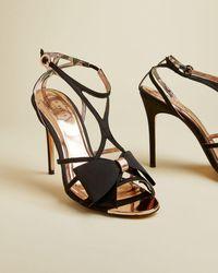 Ted Baker Bow Detail Strap Sandal - Negro