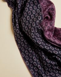 Ted Baker - Geo Jacquard Woven Scarf - Lyst