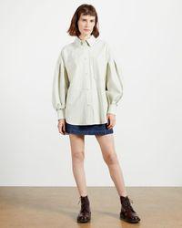 Ted Baker Camisa Piel - Blanco