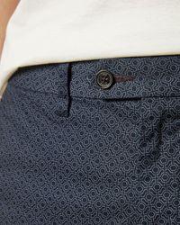 Ted Baker Geo Print Shorts - Blue