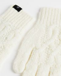 Ted Baker Cable Knit Gloves - White