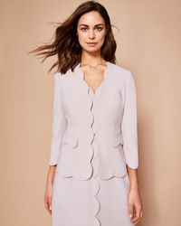 632c80e1a753d Ted Baker Soreli Tailored Jacket in Pink - Lyst