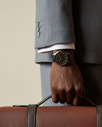Ted Baker Leather Strap Watch - Black