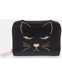 Ted Baker - Cat Motif Small Leather Purse - Lyst