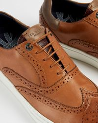 Ted Baker Leather Brogue Sneakers - Brown