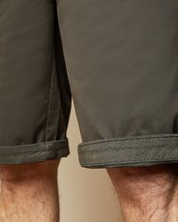 Ted Baker Tall Cotton Shorts - Green