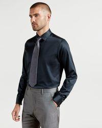Ted Baker - Plain Cotton Shirt - Lyst