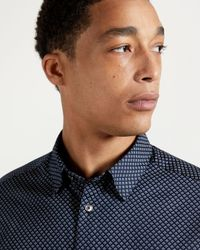 Ted Baker Geo Printed Shirt - Blue