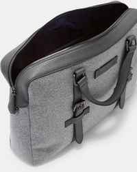 Ted Baker Wool Document Bag - Gris